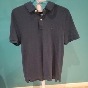 Tommy Hilfiger Dark Blue Cotton Polo Shirt